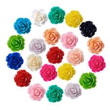 50pcs Flower Resin Beads DIY Jewelry Making & Findings & Design 6x4mm hole:1mm