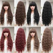 Beauty Women Lady Long Natural Curly Wavy Hair Synthetic Full Wigs Cosplay HT
