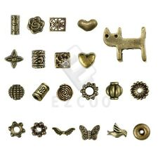 20-1000pcs Antique Brass Spacer Beads Metal Jewelry Findings 21style Lots HC