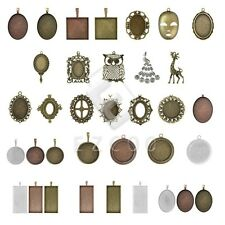 1-15pcs Antique Brass Pendants Metal Charm Supplies Jewelry Findings 31 Style HC