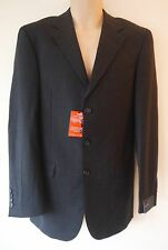 Mens Tailored Suit Jacket Sizes 36L 40R New Charcoal Grey Single Breasted NWT