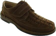 Ara Guido Men's Cafe Cut Out Interwoven Tan Leather Comfort Shoes New