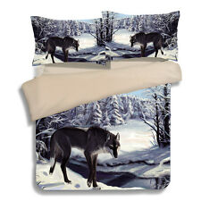 Wolf Doona Quilt Duvet Cover Set King/Queen/Single Size Animal Bed Cover Set New