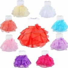 Flower Baby Girls Kids Princess Wedding Birthday Formal Party Tutu Baptism Dress