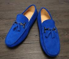 Mens Fashion slip on driving moccasin suede shoes loafer tassel shoes 7 colors Y