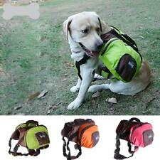 Pet Dog Saddle Bag Backpack Carrier Outdoor Hiking Camping Travel 3 Colors S-XL