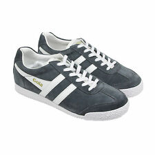 Gola Harrier Suede Mens Gray Suede Lace Up Trainers Shoes