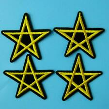 4 Star Iron on Sew Embroidered Badge Patch Cowboy Rock Biker Punk Applique Lots.