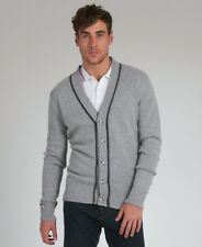 New Mens Superdry Fiennes Cardigan Jumper Heather Grey