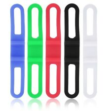 5pcs Silicone Rubber Bike Bicycle Holder Mount Tie Strap Elastic Bandage HT