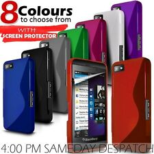 Wave Gel S Line Skin Case Cover & LCD Screen Protector For Various Mobile Phones