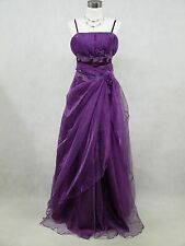 Cherlone Satin Purple Plus Size Laces Prom Ball Gown Wedding Evening Party Dress