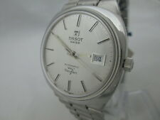 NOS NEW SWISS VINTAGE BIG AUTOMATIC MEN'S STAINLESS ST TISSOT SEVEN WATCH 1960'S