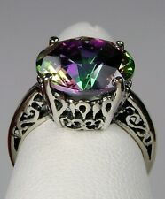 5ct Round *Mystic Topaz* Sterling Silver Trellis Filigree Ring {Made To Order}