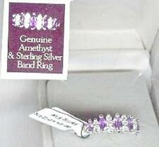 Genuine Amethyst Clear Sterling Silver SS Rings, Earrings and Necklaces