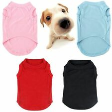 Summer Pet Cat Dog Clothes T Shirt Puppy Cute Cotton Vest Coat Apparel Costumes