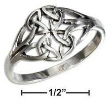 STERLING SILVER CELTIC TRINITY KNOT CLUSTER RING Sizes 6,7,8