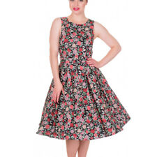 Dolly and Dotty ANNIE Retro 50s Dress Swing   Black Floral Flowers All Sizes
