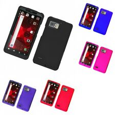 For Motorola Droid Bionic XT875 Hard Snap-On Rubberized Phone Skin Case Cover