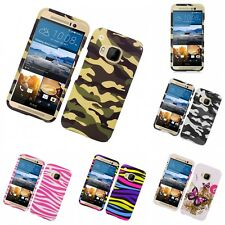For HTC One M9 Hard Phone Case Design Rubberized Snap-On Cover