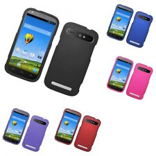 For ZTE Warp Sync N9515 Hard Snap-On Rubberized Phone Skin Case Cover