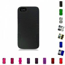 For Apple iPhone 5/5S/SE Case Hard Soft Dual Layer Slim Thin Rugged Mesh Cover