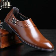 Mens/Boy pull on Casual Shoes Smart Office Wedding Dress Work Formal Party Shoes