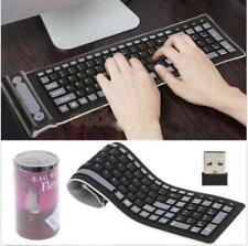Silicone Keyboard Wireless USB Waterproof Flexible Soft Rubber for Computer PC