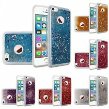 For Apple iPhone 5/5S/SE Liquid Glitter Shiny Water Design Hard Case Cover