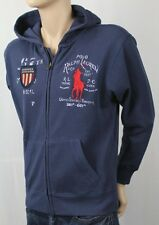 Children POLO Ralph Lauren Blue Full Zip Fleece Hoodie Sweatshirt Big Pony NWT