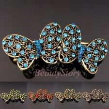 ADD'L Item FREE Shipping - Antiqued Rhinestone Butterfly Hair Barrette Clip