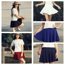 Women Girl Bust Shorts Skirt Pants Pleated Fashion Candy Color Skirts A-Line Hot