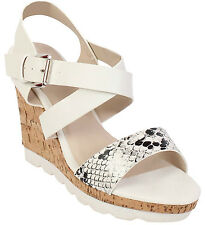 WOMENS LADIES HIGH WEDGE HEELS SUMMER STRAPPY ANKLE STRAP BEACH SANDALS SHOES