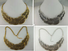 free ship1pcs fashion beautiful Hollow out leaves chain necklace