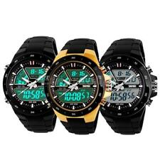 Mens Army Sport Watch Analog Digital LED Date Day Alarm Quartz Wristwatch