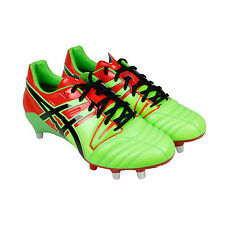 Asics Gel Lethal Tight Five Mens green Leather Athletic Rugby Cleats Shoes