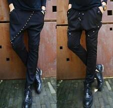 Mens Harem Pants Korean Casual Skinny Hip Hop dance rivet studded Trousers @@@