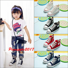 Fashion Kids Boys Girls Teens Canvas Shoes Trainers Fitness Sports Running Shoes