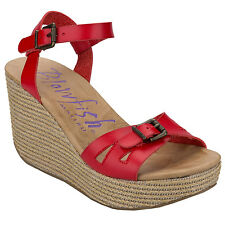 Women&Apos;S Blowfish Drive In Sandals In Red From Get The Label