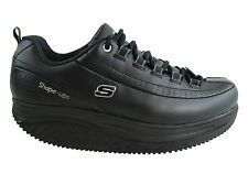 NEW SKECHERS SHAPE UPS ELON WOMENS LEATHER SLIP RESISTANT SHOES