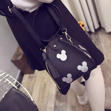 Mickey Barrel Shoulder bag Handbag Wristlet Women Cross body Messenger Bag