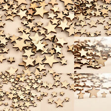 Lots 100 Rustic Wooden Wood Love Heart Wedding Table Scatter Decoration Crafts