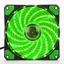 3-4Pin 15-LED 12V Light Neon 120mm PC Computer Case Cooling Cool Fan 2100RPM