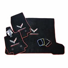 Chevrolet Corvette C7 Grand Sport Floor Mats and Cargo Mat - Jet Black Red Trim