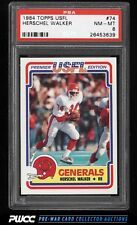 1984 Topps USFL Herschel Walker ROOKIE RC #74 PSA 8 NM-MT (PWCC)