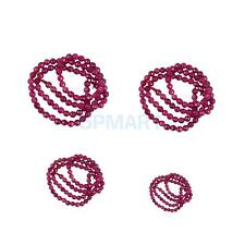 Pretty Faceted Ruby Jade Round Gemstone Loose Beads 15 Inch Strand DIY Beads