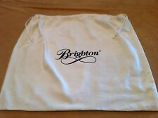 Brighton Storage Pouch, Dust Cover, Purse Holder, Drawstring Bag, Large, White