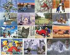 CHOOSE FROM 16 DESIGNS LARGE A3 ACRYLIC PAINTING BY NUMBER KITS & PAINT & BRUSH