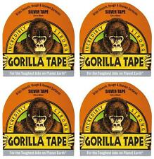 4x Gorilla 32m Incredibly Strong Silver adhesive Tape 48mm x 32m