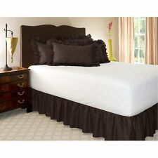 1 Qty Bed Skirt Ruffle/Gathering Egyp.Cotton Drop 8-30 Inch Chocolate Solid